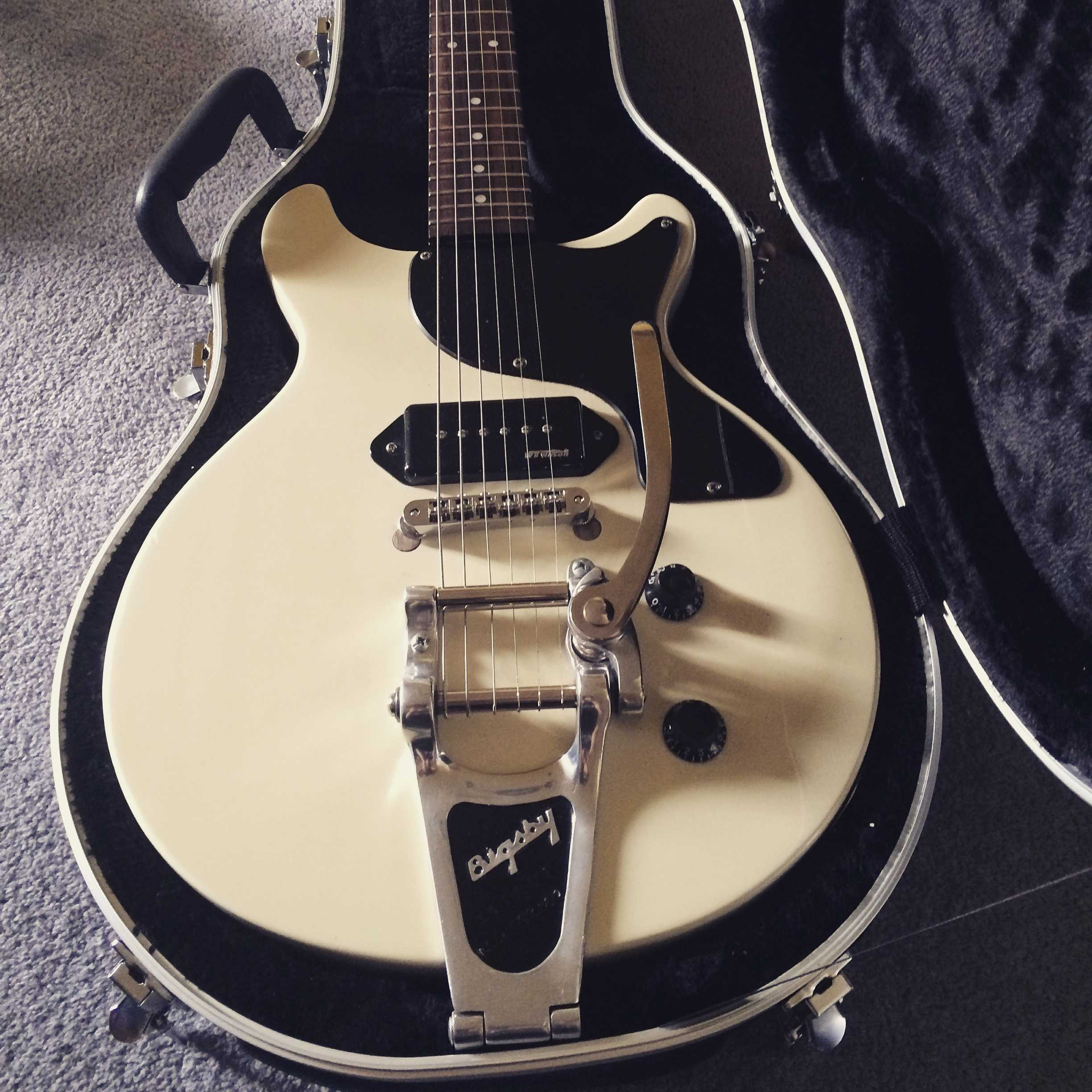 Les Paul Jr with TOWNER V.BLOCK and BIGSBY B7 Vibrato Tailpiece